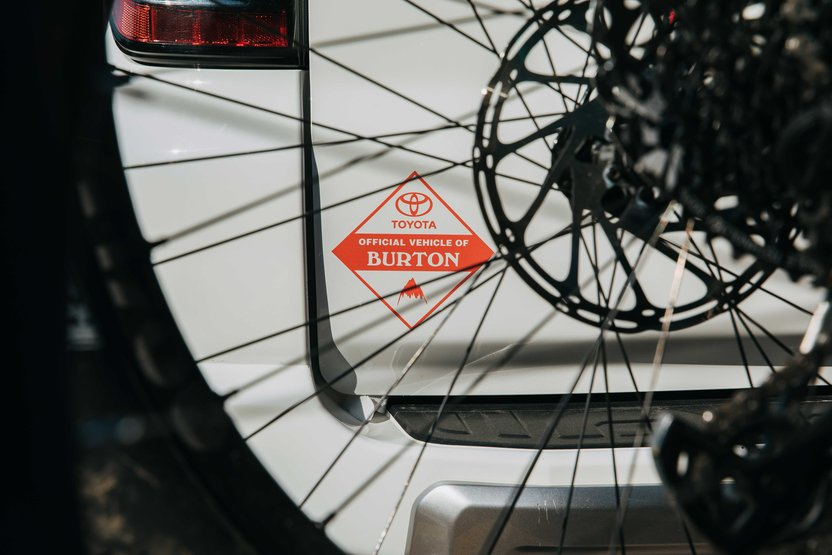 Proud to have Toyota as the official vehicle of Burton.