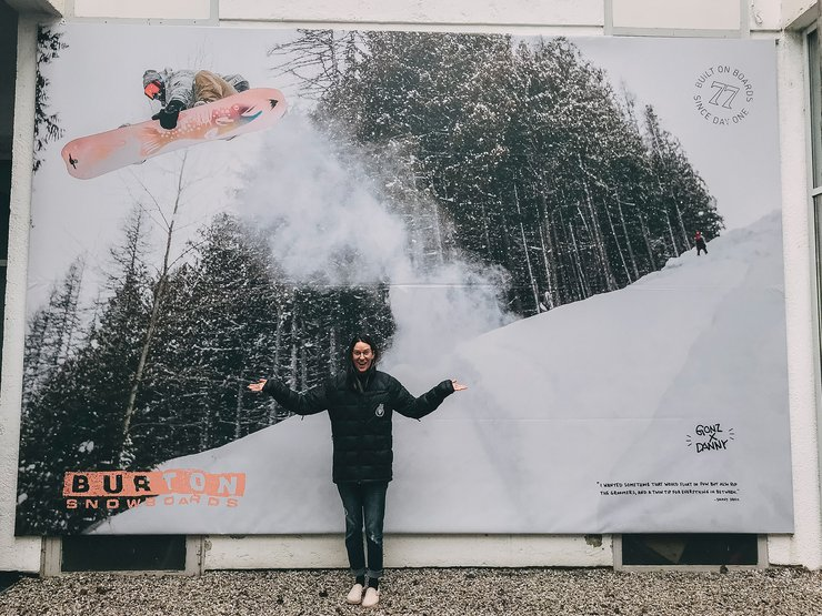 Here's the ad at our Innsbruck, Austria storefront. So fun to see these shots blown up like this!