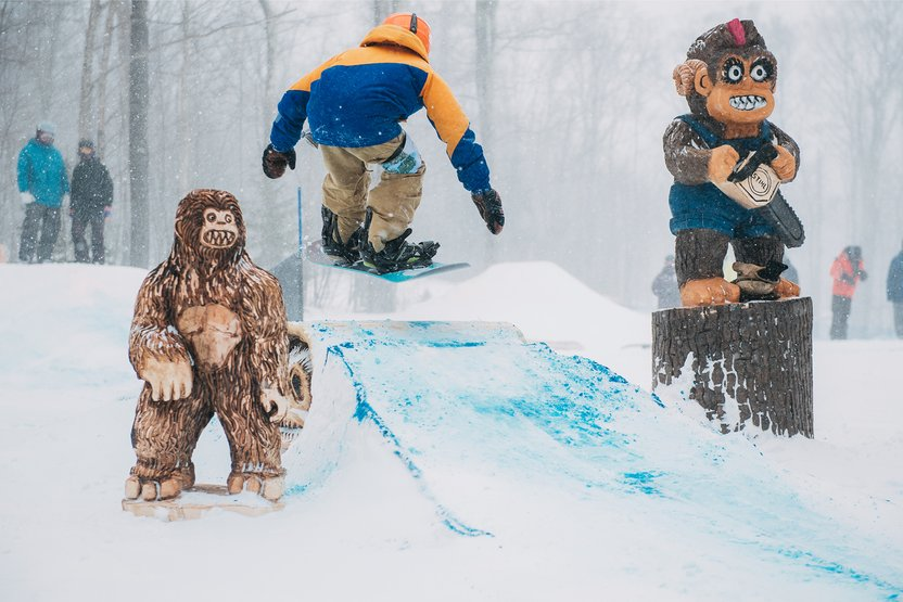 "They may look like yetis, but we call 'em ""shreddies."" Thanks to a new fleet of Stihl Chainsaws and Griffon Ramsey, the Stash got its first-ever female shreddie specially made for this weekend."