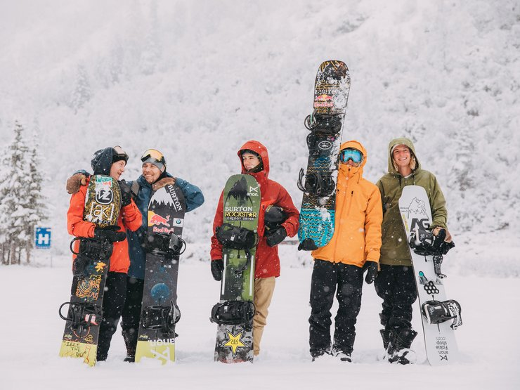The Stubai Crew: Red Gerard, Roope Tonteri, Mikey Ciccarelli, Brock Crouch and Max Zebe.