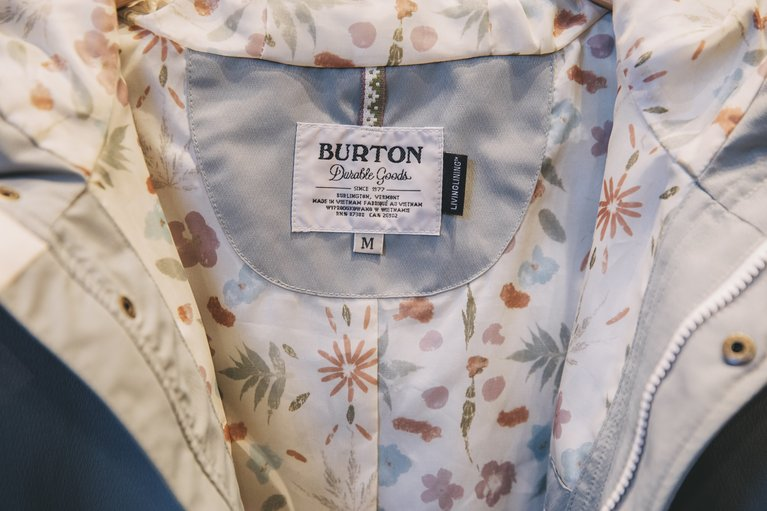 Burton jackets featuring Living Lining.